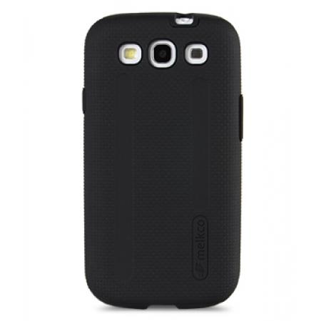 Двухслойный противоударный чехол Melkco Kubalt Double Layer Case для Samsung Galaxy SIII GT-I9300 - чёрный