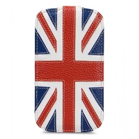Кожаный чехол Melkco для Samsung Galaxy S4 GT-I9500 - Jacka Type - Флаг Великобритании