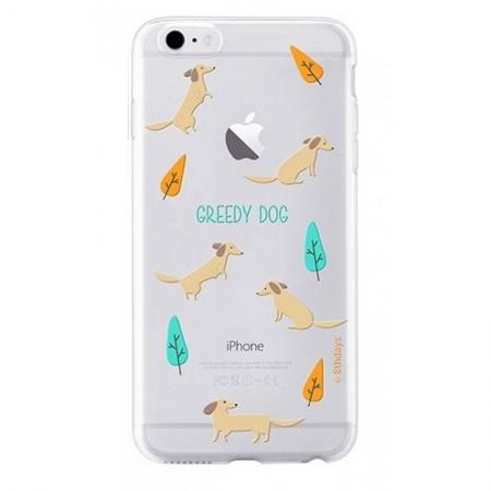 Чехол накладка 8thdays Pet Town для Apple iPhone 6/6S greedy dog