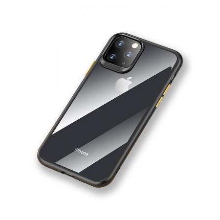Чехол накаладка Rock Guard Pro Protection Case для Apple iPhone 11 Pro, прозрачный черный