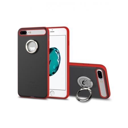 Чехол накладка с кольцом Rock Ring Holder Case M2 для для Apple iPhone 7 Plus/8 Plus - черный, красный